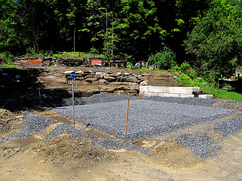 The new shop site, just waiting for concrete.
